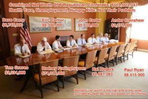Rich Congressmen Deaf & Blind to the Poor