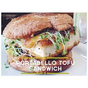SEED portobello sandwich