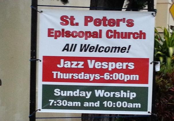 Jazz Vespers sign